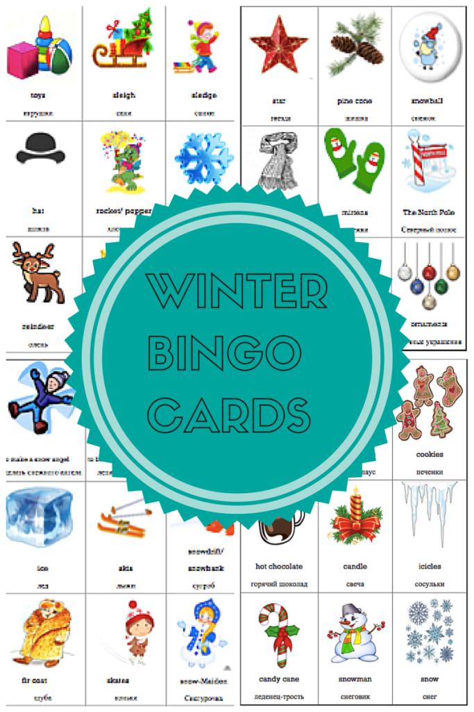 Winter bingo cards